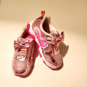 Disney Minnie Mouse Glitter Pink Sneakers Size 10